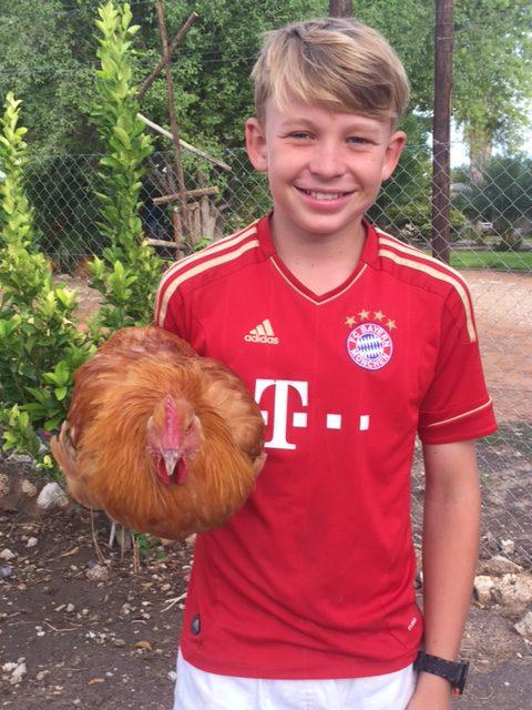 Luca_with_chicken